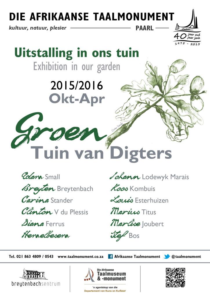 Taalmonument Tuin van Digters 2015