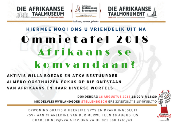 ommietafel Taalmuseum 2018